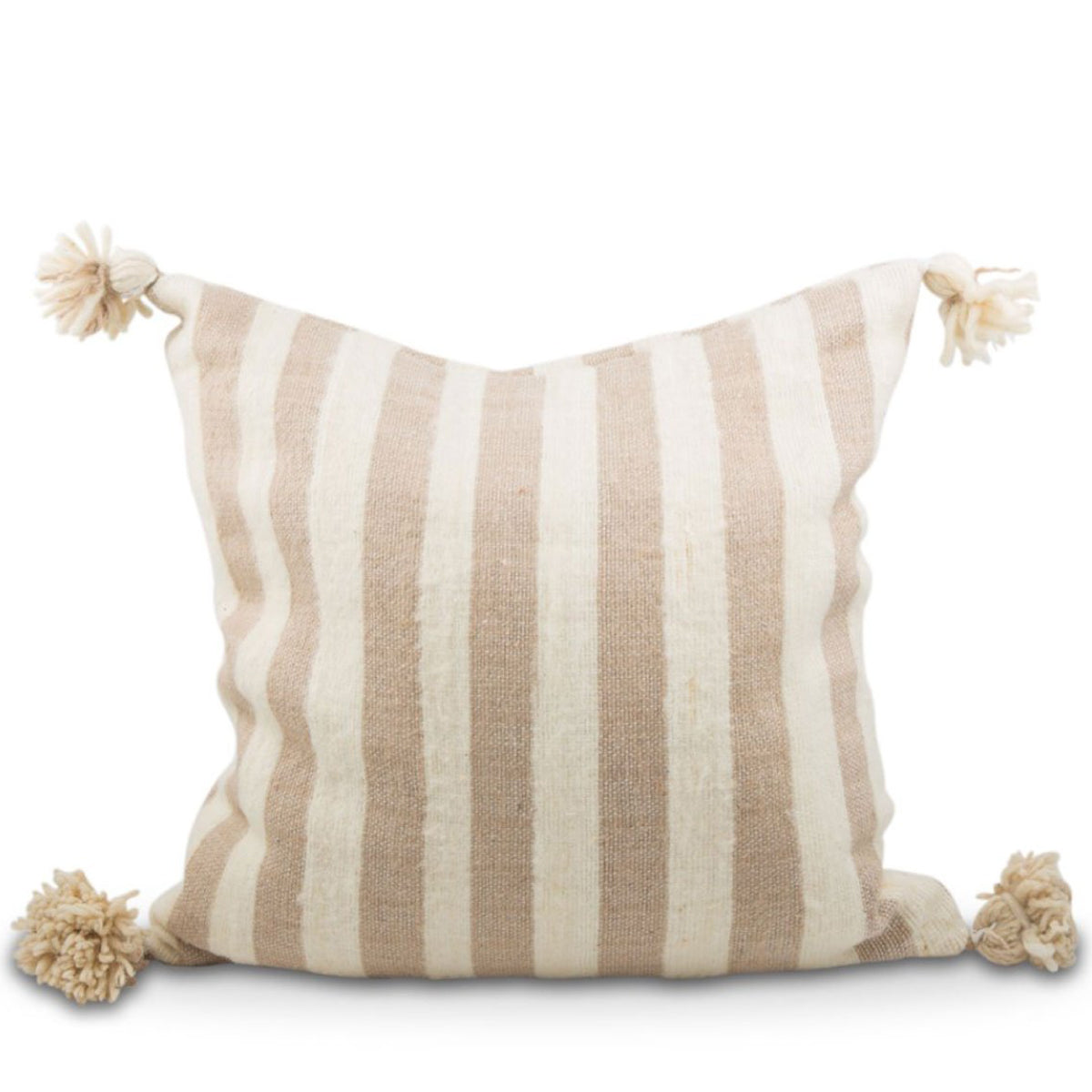 Padma Striped Pom Pom Pillow