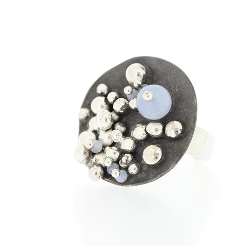 MOONROCK.series   RING.chalcedony..SS