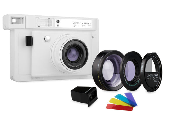 Lomo'Instant Wide White Edition Camera and Lens Kit