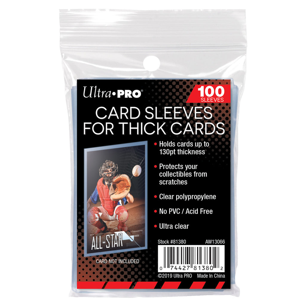 Ultra-Pro Thick Card Sleeves - Acid Free - Hold Cards Up To 130pt - Pack of 100