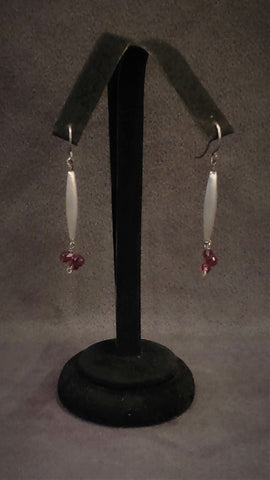 Jewelry Earrings Brass Red Garnets