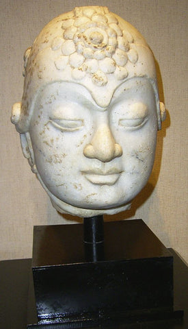 Ceramic Sculpture Marble Head