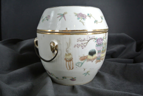 Pocelain Famille Rose Bowl With Cover