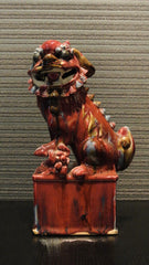 Porcelain Oxblood Glaze Lion