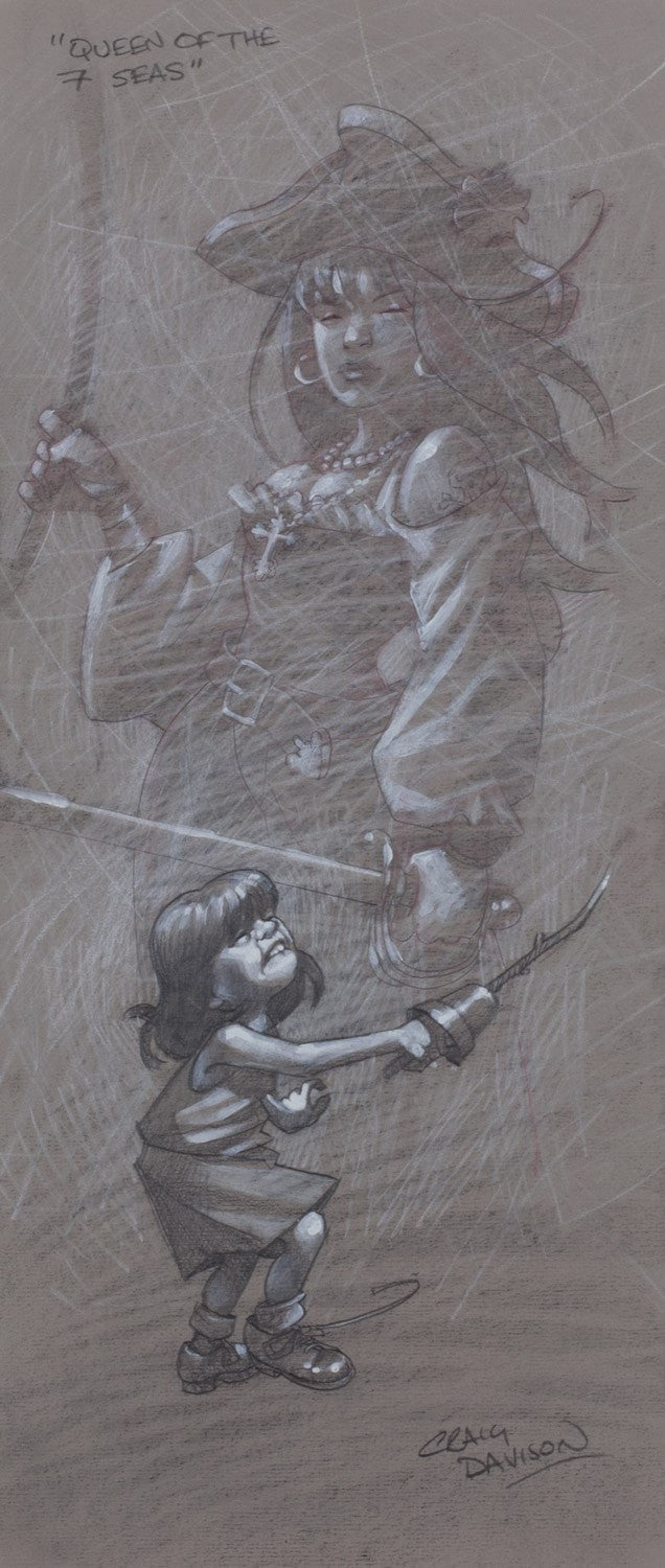 Queen of the 7 Seas - ORIGINAL Craig Davison