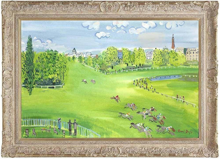 The Racecourse At Longchamps John Myatt