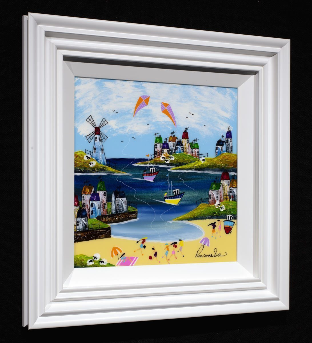 Fun and Games - Original Rozanne Bell Framed