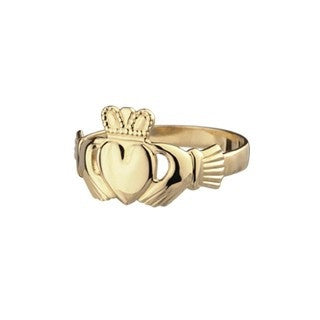 9ct Gold Ladies Claddagh Ring