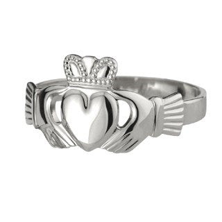 Mens Silver Claddagh Ring