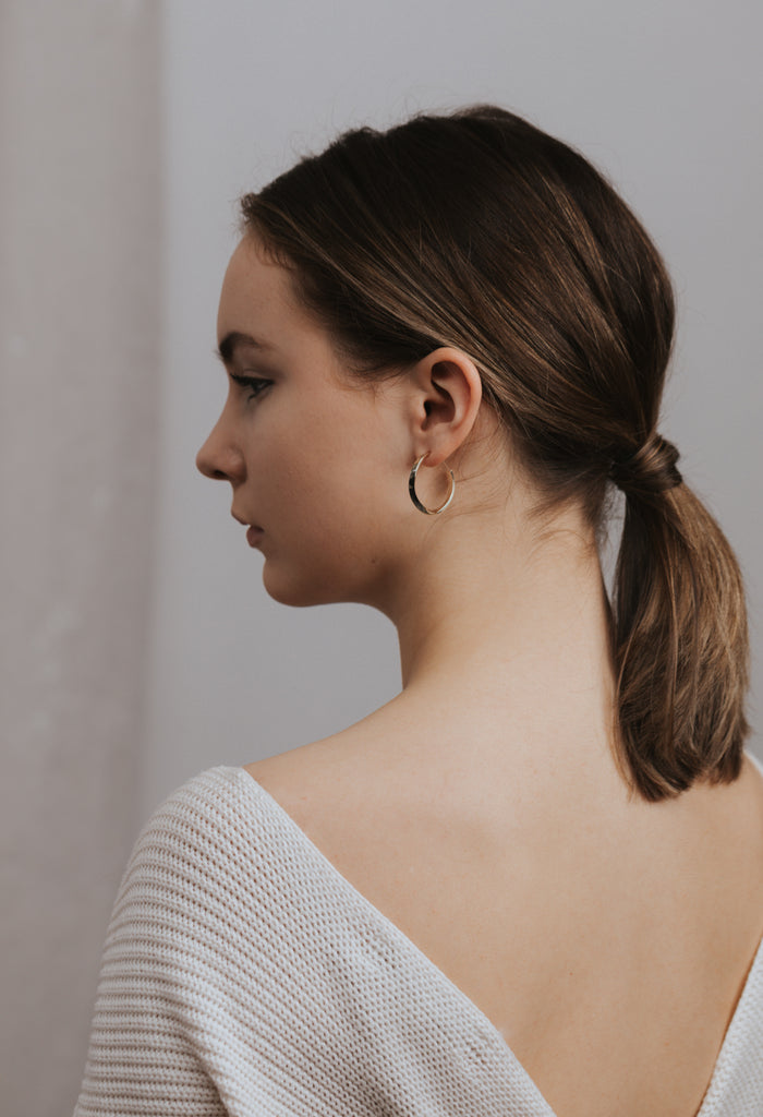 Taylor Twist Hoop Earrings