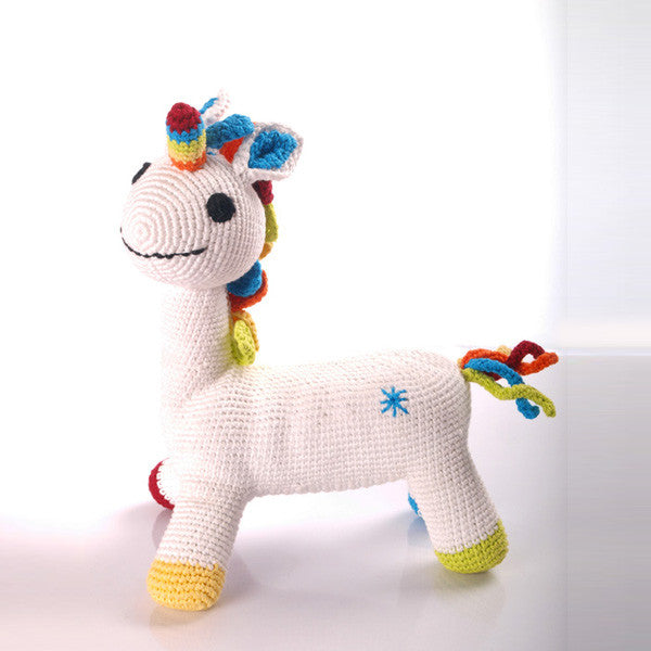 Fantasy White Unicorn Fair Trade Toy,Pebble  - Wild Dill