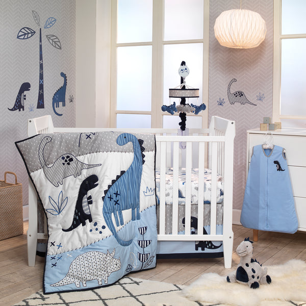 Baby Dino Cotton Fitted Crib Sheet - Lambs & Ivy