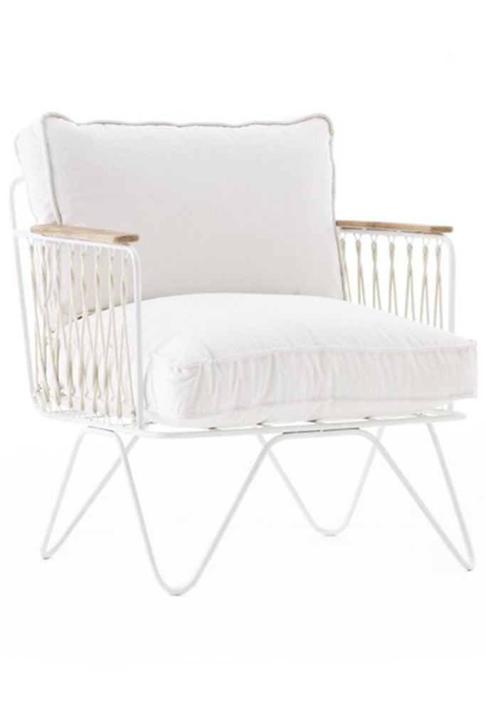 honore white chair