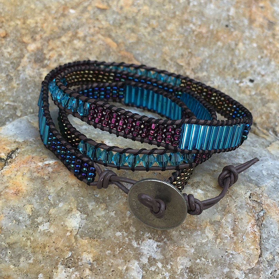 Beaded wrap handmade fair trade bracelet.
