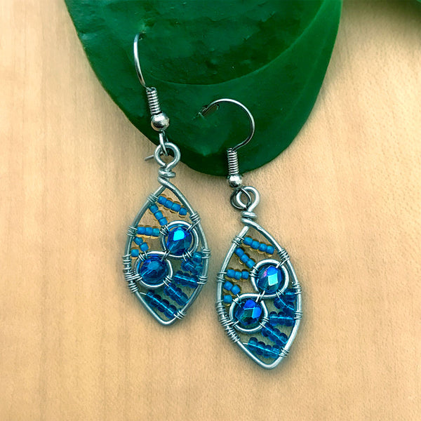 Fair trade bead earrings handmade in guatemala
