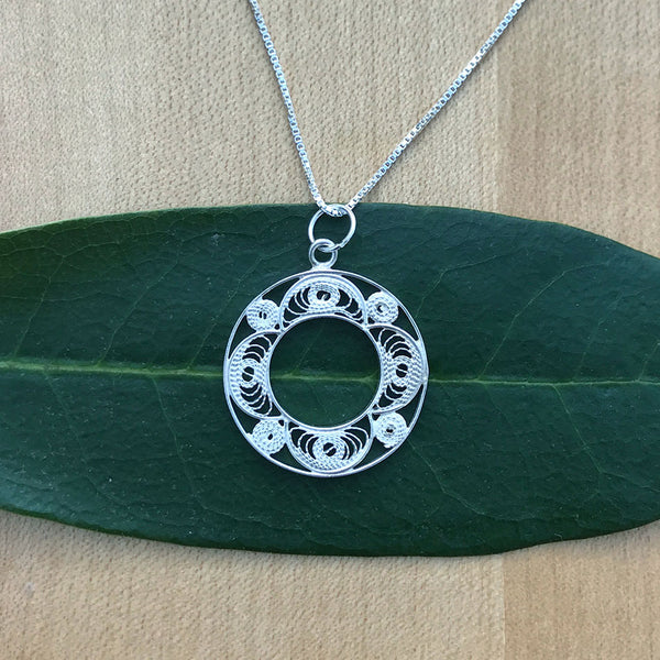 Sacred Circle Necklace - Sterling silver, Peru