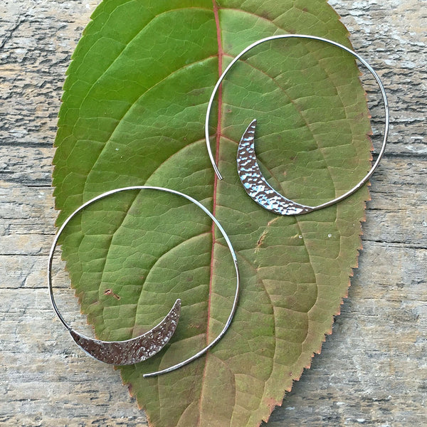 fair trade hoop earrings handmade by survivors of human trafficking