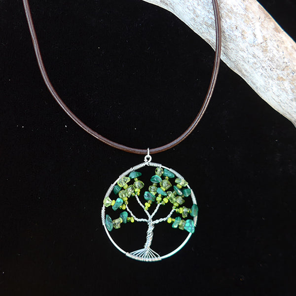 Fair trade tree of life necklace handmade in Guatemala