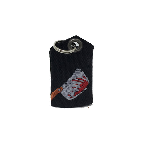 "Bloody cleaver ""Tag Bag"" medal protector and silencer"