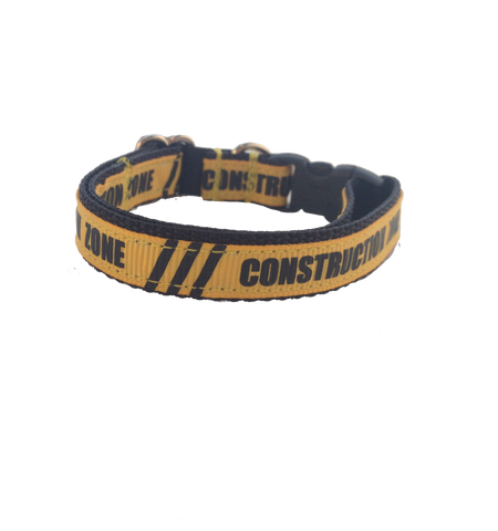 Construction Zone Kitty collar