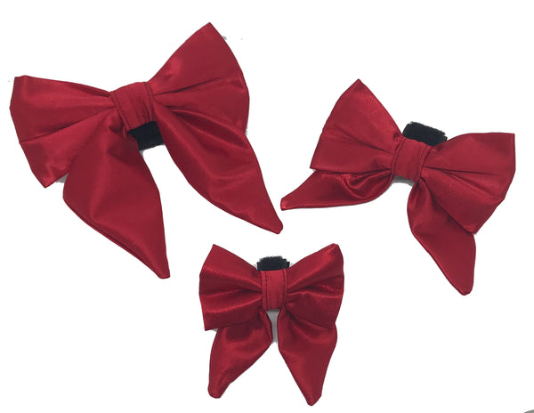 Red Satin Girlie Bow