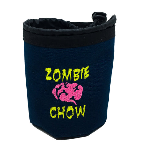 Zombie Chow treat pouch and water bowl