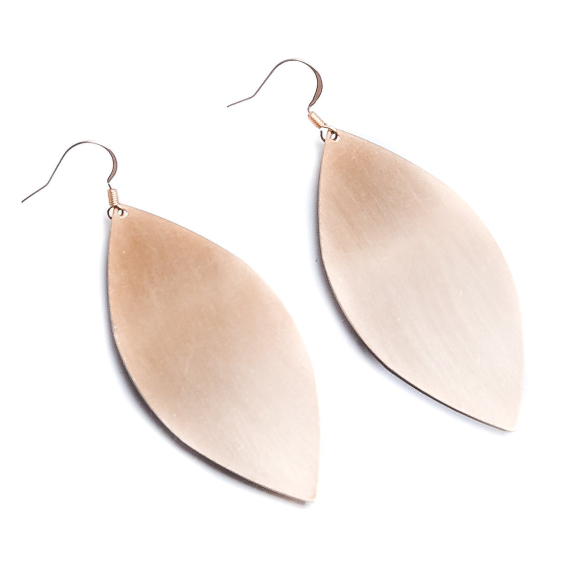 Brushed Marquise Earring - Gold