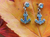 Mini Double-Sided Anchor Droplet Earrings