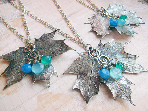 Sylvan Leaves by Sihaya Designs -- Real Maple Leaf Necklace