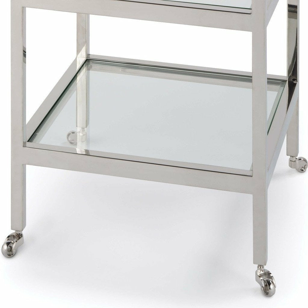 Regina Andrew Alister Side Table (Polished Nickel) - Heaven's Gate Home & Garden