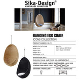 Sika-Design Icons Egg Nanny Ditzel Hanging Chair - Heaven's Gate Home & Garden