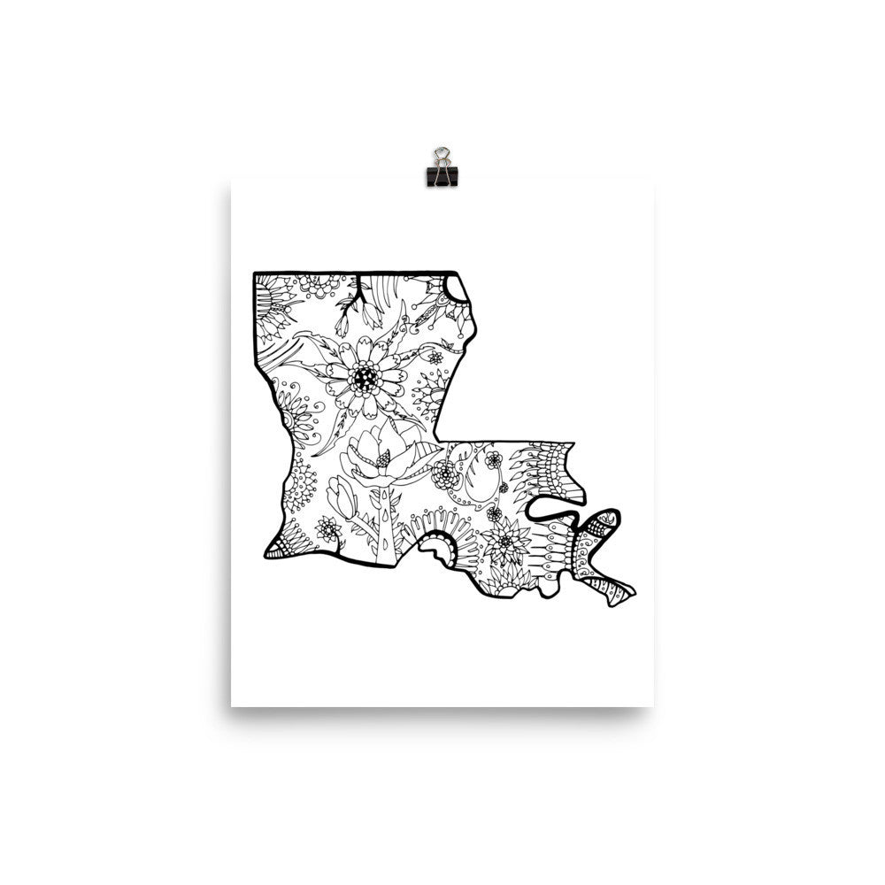 Color It Yours: Louisiana Poster