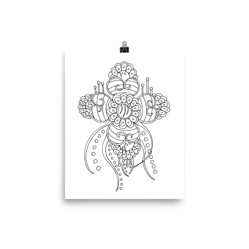 Color It Yours: Henna Inspired Poster (Design #31)