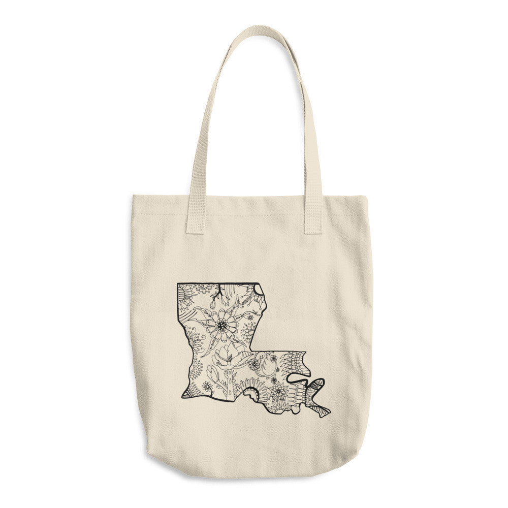 Color It Yours: Louisiana Cotton Tote Bag