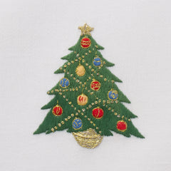 Ornament Tree<br>Everyday Towel - White Cotton