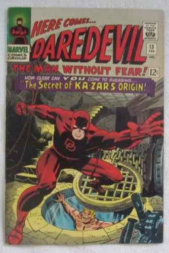 Daredevil #13 (Feb 1966, Marvel) Kirby pencils Ka-Zar app High Grade VF 8.0