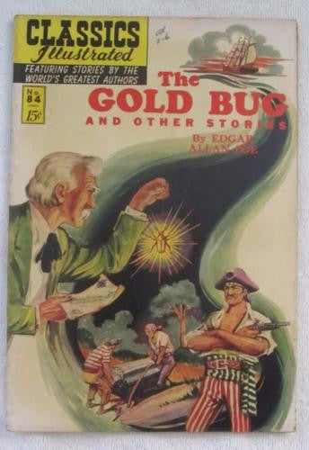 Classics Illustrated #84 [O] - The Gold Bug and Other Stories (Jun 1951) F 6.0