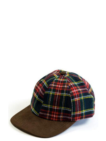 Raised By Wolves Plaid Hunting Cap Black
