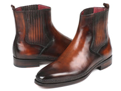 Paul Parkman Chelsea Boots Brown Burnished Leather