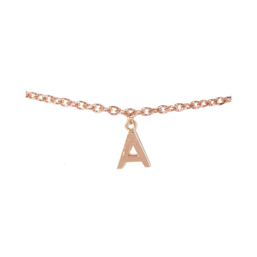 Letter Bracelet - 9ct Rose Gold