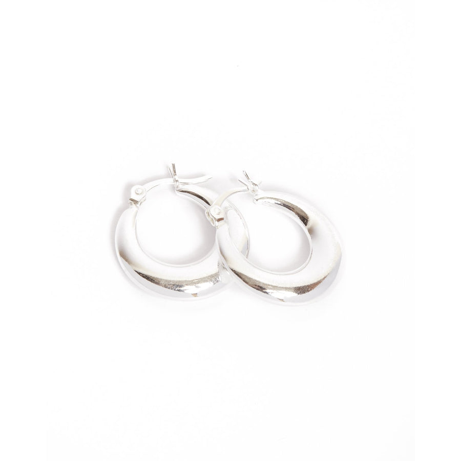 Graduated Tube Hoops Small - Silver