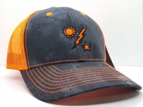 Hat - 75th DUI Kryptek Typhon Neon Orange Trucker