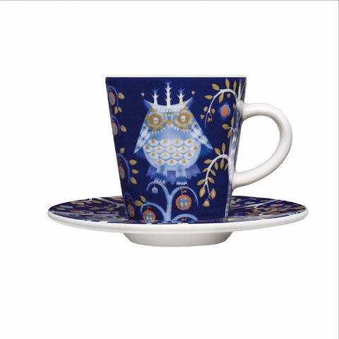 Taika espresso cup and saucer, blue