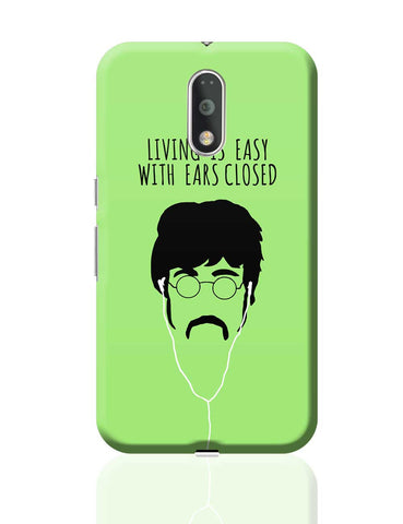 Living is Easy with Ears Closed (Pink)| John Lennon Moto G4 Plus Online India