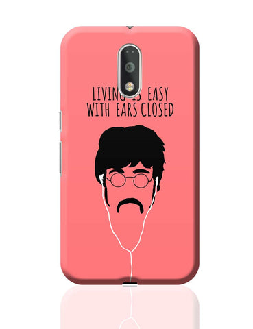 Living is Easy with Ears Closed (Red)| John Lennon Moto G4 Plus Online India