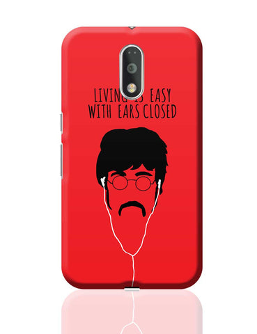 Living is Easy with Ears Closed (Yellow)| John Lennon Moto G4 Plus Online India