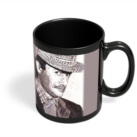 Coffee Mugs Online | Dev Anand Painting Black Coffee Mug Online India