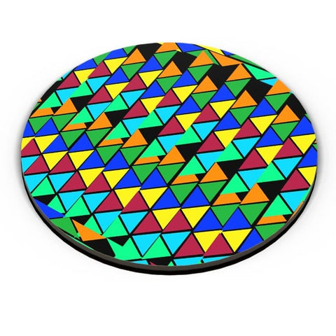 Abstract Color Triangle Fridge Magnet Online India