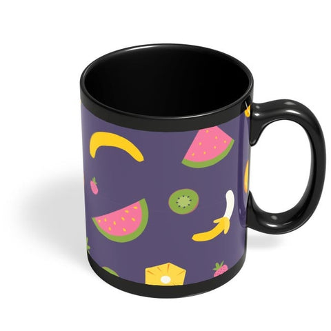 """Watermelon ""  blue backgrond Black Coffee Mug Online India"