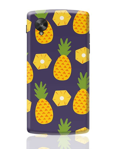 """Pineapple""  Blue background Google Nexus 5 Covers Cases Online India"